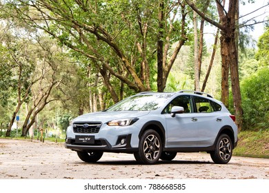 Hong Kong, China June 22, 2017 : Subaru XV 2017 Test Drive Day June 22 2017 in Hong Kong.