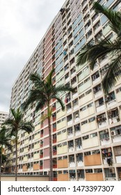 Hong Kong, China - June 24, 2019 : Rainbow Apartments in Hongkong, Choi Hung Estate, China