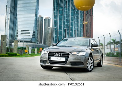 Hong Kong, China June 24, 2011 : Audi A6 test drive on June 24 2011 in Hong Kong.
