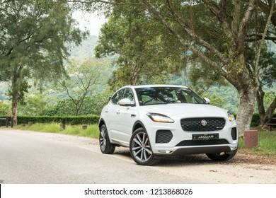 Hong Kong, China June 4, 2018 : Jaguar E-Pace 2018 Test Drive Day June 4 2018 in Hong Kong.