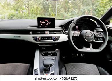 Hong Kong, China June 5, 2017 : Audi S5 Sportback All-New 2017 Interior June 5 2017 in Hong Kong.