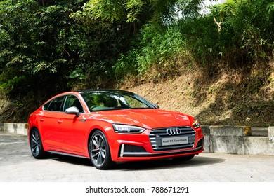 Hong Kong, China June 5, 2017 : Audi S5 Sportback All-New 2017 Test Drive Day June 5 2017 in Hong Kong.