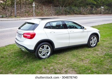 Hong Kong, China March 24 2015 : Mercedes-Benz GLA 2015 Test Drive on March 24 2015 in Hong Kong.