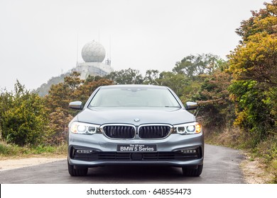 Hong Kong, China March 7, 2017 : BMW 5-Series 2017 Test Drive Day on March 7 2017 in Hong Kong.