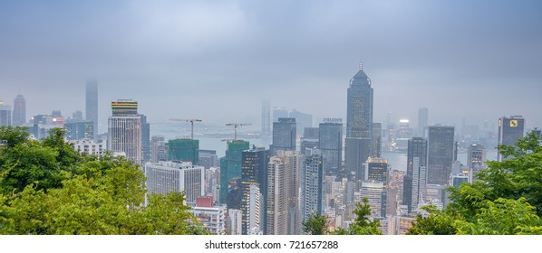 HONG KONG, CHINA - MAY 12: View of of Hong Kong downtown skyline on May 12, 2014. Hong Kong is one of the two Special Administrative Regions of the People's Republic of China