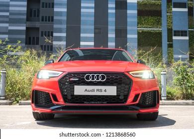 Hong Kong, China May 14, 2018 : Audi RS4 2018 Test Drive Day May 14 2018 in Hong Kong.