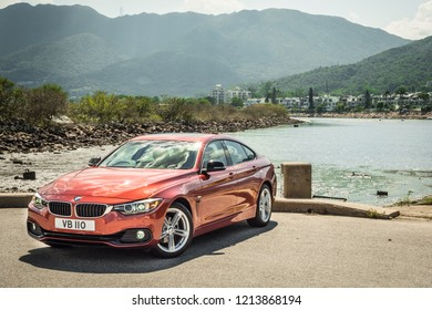Hong Kong, China May 17, 2018 : BMW 420i Gran Coupe 2018 Test Drive Day May 17 2018 in Hong Kong.