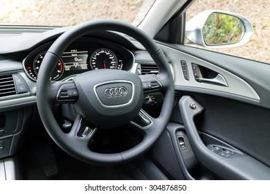 Hong Kong, China May 17 2015 : Audi A6 35 TFSI 2015 Wheel on May 17 2015 in Hong Kong.