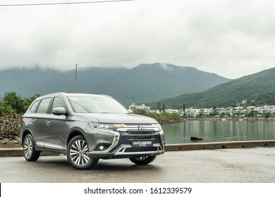 Hong Kong, China May, 2019 : Mitsubishi Outlander Test Drive Day on May 31 2019 in Hong Kong.