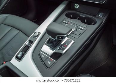 Hong Kong, China May 23, 2017 : Audi A5 Sportback 2017 Gear Box Day May 23 2017 in Hong Kong.