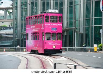 Hong Kong, China - May 27 2009: Hong Kong Tramways No. 78 of HK Tramways Ltd.