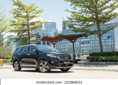 Hong Kong, China May 31, 2018 : Kia Sorento GT 2018 Test Drive Day May 31 2018 in Hong Kong.