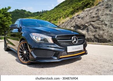 Hong Kong, China May 5 2015 : Mercedes-Benz CLA Shooting Brake 2015 Test Drive on May 5 2015 in Hong Kong.