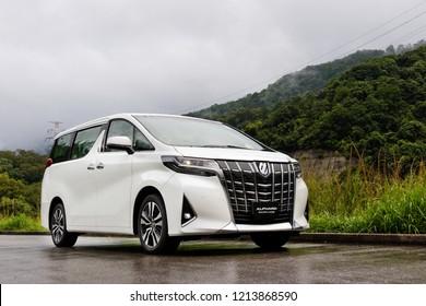 Hong Kong, China May 7, 2018 : Toyota Alphard 2018 Test Drive Day May 7 2018 in Hong Kong.