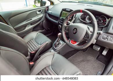 Hong Kong, China May 9, 2017 : Renault CLIO RS 2017 Interior  May 9 2017 in Hong Kong.