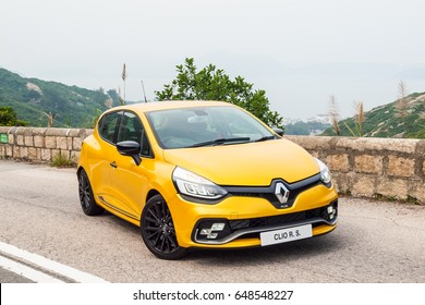 Hong Kong, China May 9, 2017 : Renault CLIO RS 2017 Test Drive  May 9 2017 in Hong Kong.