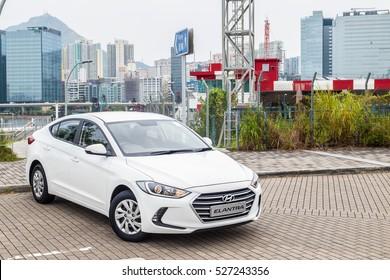 Hong Kong, China Nov 1, 2016 : Hyundai Elantra Drive Day on Nov 1 2016 in Hong Kong.