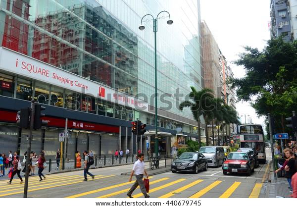 HONG KONG, CHINA - NOV 10, 2015: Hong Kong Nathan Road is a main commercial thoroughfare in Kowloon, Hong Kong, China.