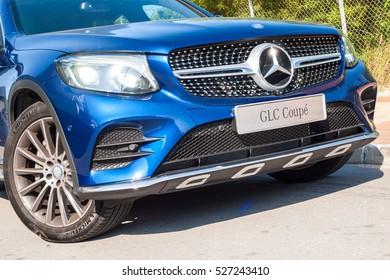 Hong Kong, China Nov 14, 2016 : Mercedes-Benz GLC 250 Coupe Drive Day on Nov 14 2016 in Hong Kong.