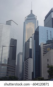 Hong Kong, China - November 07, 2014: View of the modern office buildings in the city center