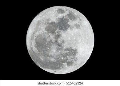 Hong Kong, china - November 14, 2016: Closeup the Supermoon in Hong Kong, on November 14, 2016