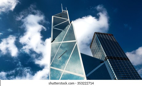 HONG KONG, CHINA - NOVEMBER 24, 2015 - Bank of China Tower in Central District. Completed in 1990, the Bank of China tower is still one of Hong Kong's most iconic skyscrapers.
