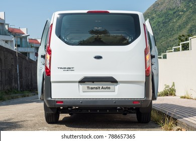 Hong Kong, China Oct 24, 2017 : Ford Transit Auto 2017 Test Drive Day Oct 24 2017 in Hong Kong.