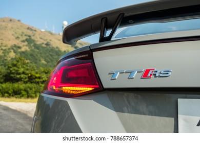 Hong Kong, China Oct 24, 2017 : Audi TT RS Coupe 2017 Test Drive Day Oct 24 2017 in Hong Kong.