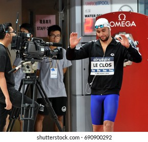 Hong Kong, China - Oct 30, 2016.  Olympic and world champion swimmer LE CLOS Chad (RSA) before the Men's Butterfly 100m Final. FINA Swimming World Cup, Victoria Park Swimming Pool.