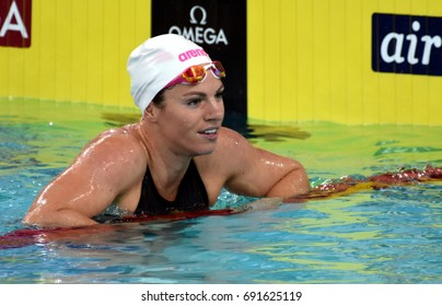 Hong Kong, China - Oct 30, 2016. Emily SEEBOHM (AUS) after the Women's Backstroke 100m Final. FINA Swimming World Cup, Victoria Park Swimming Pool.