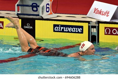 Hong Kong, China - Oct 30, 2016. OTTESEN Jeanette (DEN) after the Women's Butterfly 50m Final. FINA Swimming World Cup, Victoria Park Swimming Pool.