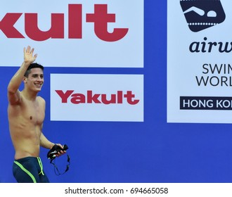 Hong Kong, China - Oct 30, 2016. Competitive swimmer Gergely GYURTA (HUN) after the Men's Freestyle 1500m Final. FINA Swimming World Cup, Victoria Park Swimming Pool.