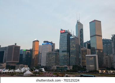 Hong Kong, China - October, 2015 : Cityscape of Hong Kong, China. ong Kong Special Administrative Region of the People's Republic of China