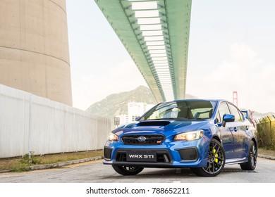 Hong Kong, China Sept 11, 2017 : Subaru WRX STI 2017 Test Drive Day Sept 11 2017 in Hong Kong.