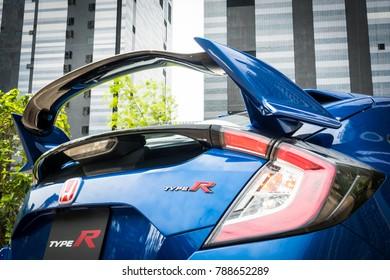 Hong Kong, China Sept 13, 2017 : Honda Civic Type R 2017 Test Drive Day Sept 13 2017 in Hong Kong.