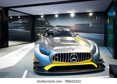 Hong Kong, China Sept 19, 2017 : Mercedes-AMG GT3 Test Drive Day Sept 19 2017 in Hong Kong.
