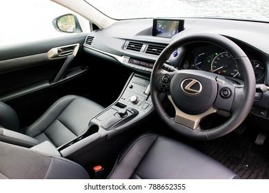 Hong Kong, China Sept 20, 2017 : Lexus CT200h 2017 Interior Sept 20 2017 in Hong Kong.