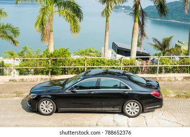 Hong Kong, China Sept 20, 2017 : Mercedes-Benz S 320 2017 Test Drive Day Sept 20 2017 in Hong Kong.