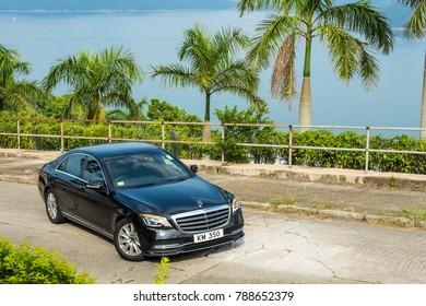 Hong Kong, China Sept 20, 2017 : Mercedes-Benz S 320 2017 Test Drive Day Sept 20 2017 in Hong Kong.