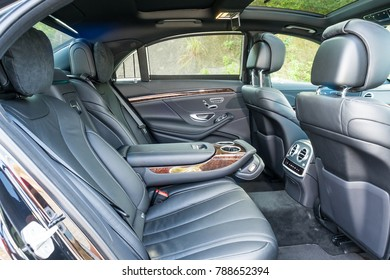 Hong Kong, China Sept 20, 2017 : Mercedes-Benz S 320 2017 Interior Sept 20 2017 in Hong Kong.