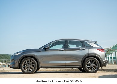 Hong Kong, China Sept 21, 2018 : Infiniti QX50 2018 Test Drive Day Sept 21 2018 in Hong Kong.