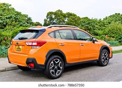 Hong Kong, China Sept 30, 2017 : Subaru XV 2017 Test Drive Day Sept 30 2017 in Hong Kong.
