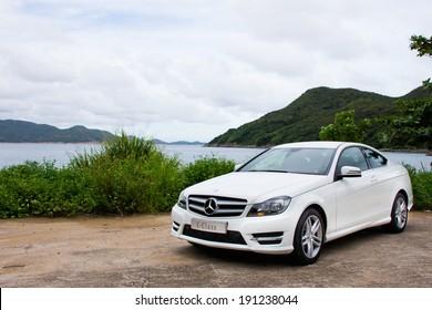 Hong Kong, China SEPT 7, 2012 : Mercedes-Benz C-Class C200 test drive on SEPT 7 2012 in Hong Kong.