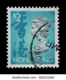 HONG KONG - CIRCA 1994 : stamp printed by Hong Kong, shows portrait of Queen Elizabeth II,circa 1994