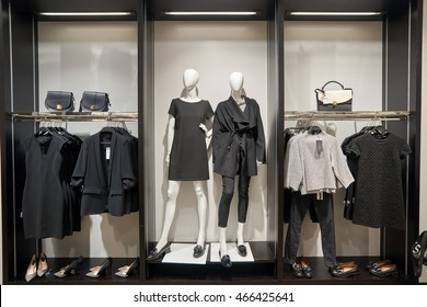 HONG KONG - CIRCA JANUARY, 2016: inside of Zara store at shopping center in Hong Kong. Zara is a Spanish clothing and accessories retailer based in Arteixo, Galicia.