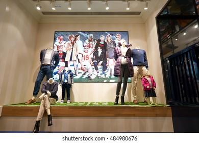 HONG KONG - CIRCA JANUARY, 2016: interior of a store in Hong Kong. Shopping is a widely popular social activity in Hong Kong.