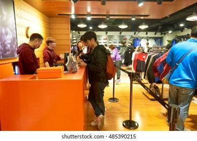 HONG KONG - CIRCA JANUARY, 2016: inside of a store in Hong Kong. Shopping is a widely popular social activity in Hong Kong.