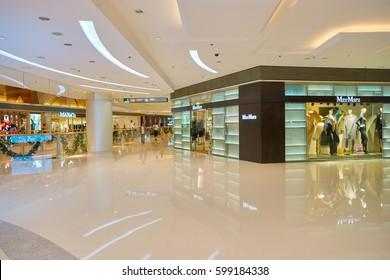 HONG KONG - CIRCA NOVEMBER, 2016: inside the Elements shopping mall. Elements is a large shopping mall located on 1 Austin Road West, Tsim Sha Tsui, Kowloon, Hong Kong