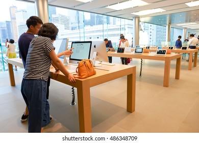 HONG KONG   CIRCA SEPTEMBER, 2016: Inside Of Apple Store. Apple Store Is