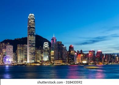 Hong Kong City at night